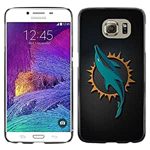 LECELL -- Funda protectora / Cubierta / Piel For Samsung Galaxy S6 SM-G920 -- Cool Dolphin Sn Carbon Art --