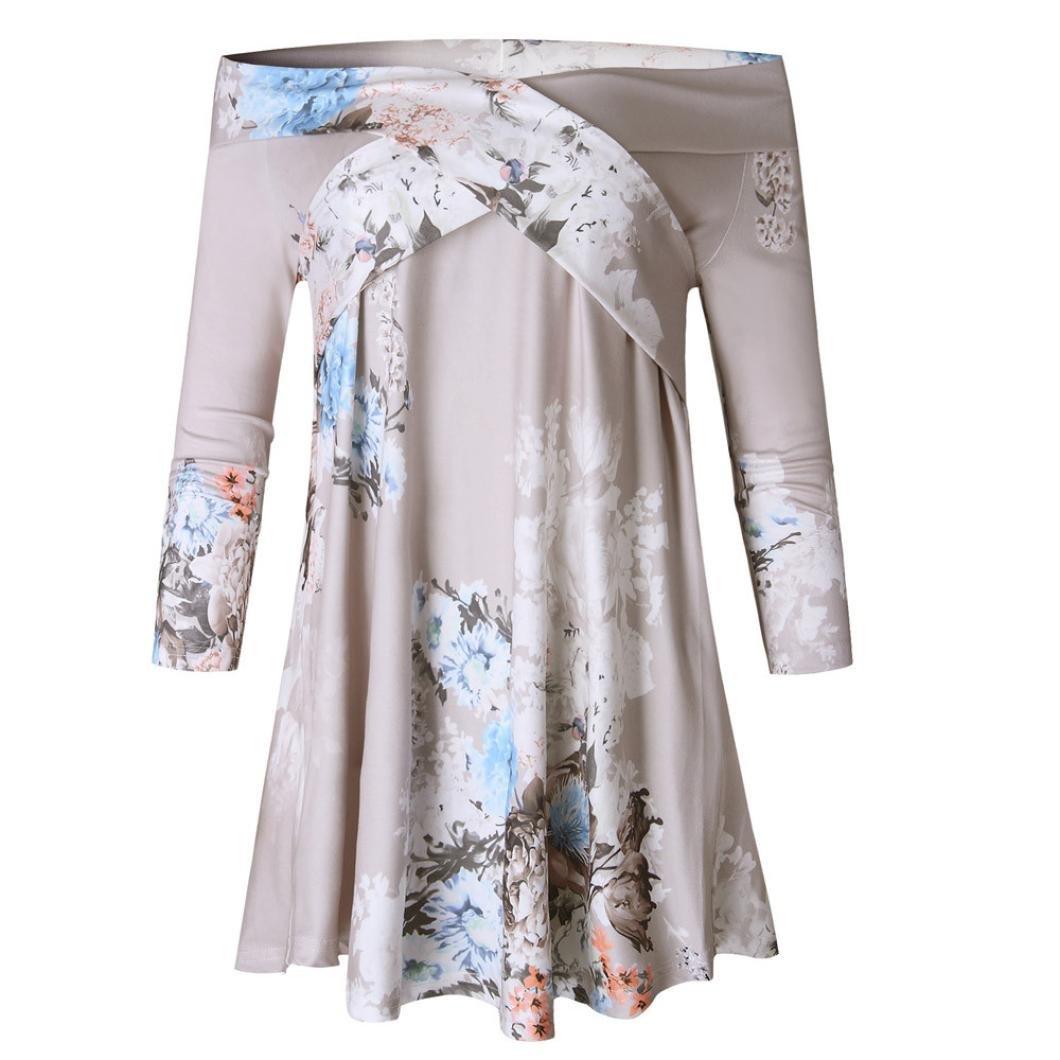Switchali Camisas Mujer Verano 2017 Casual Blusas Manga Larga Camisas Mujer Tallas Grandes Ropa de Mujer en Oferta Vestidos de Fiesta Suelto Camisa Hawaiana ...