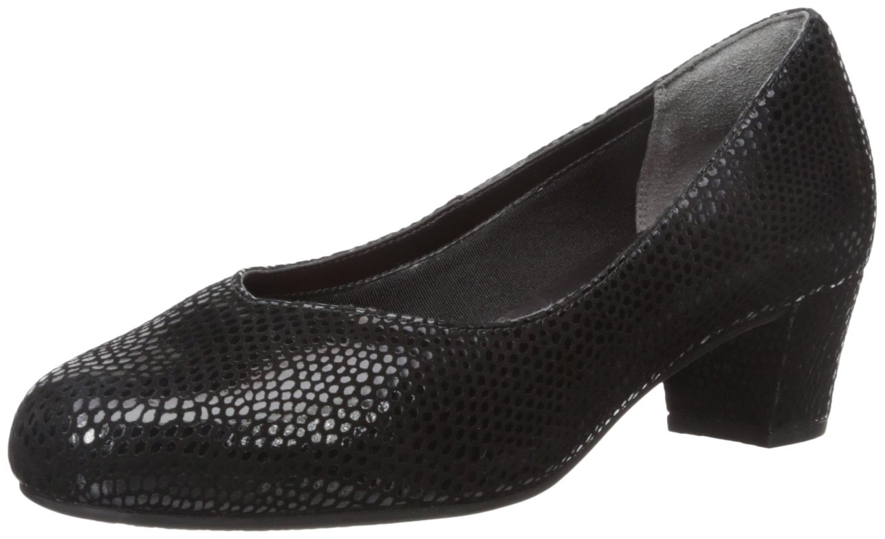 Rockport Women's Total Motion Charis Dress Pump B01ABRN008 10 B(M) US|Black Mamba Snake