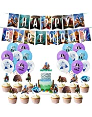 Raya and The Last Dragon Birthday Party Supplies , Raya and The Last Dragon theme Party Banner balloon cake topper Decoration