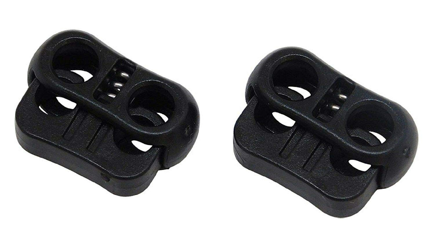 Dual Circle Cord Lock Plastic Spring Stop Toggle (25 Pack) by Lotus energy