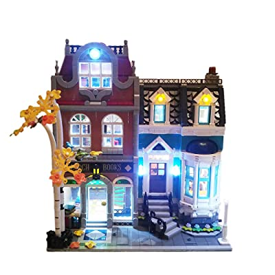 Haoun Lighting Kit Light Kit for Bookshop Building Blocks Model, Light Kit Accessories Compatible with Lego 10270,Light Included Only, No Lego Set: Toys & Games