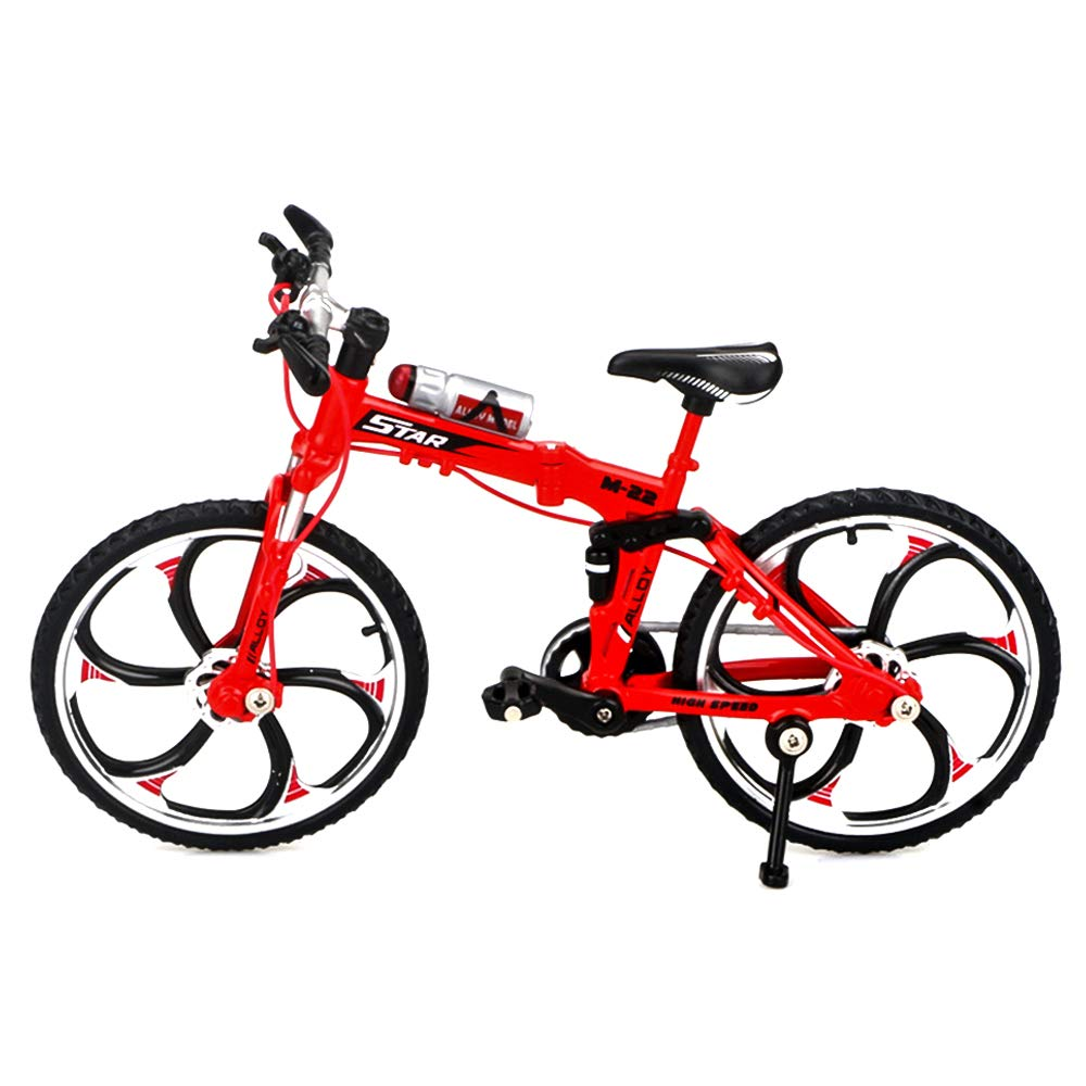 Hanbaili Simulation Vélo Vélo Collection Mode Alliage Rouge Escalade Hobby