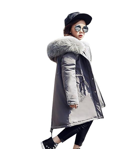 1eba103a719e3 カワイイ 女の子 ダウンジャケット キッズ ダウンコート ひざ丈 中綿入れ フード付き 防寒 子供服
