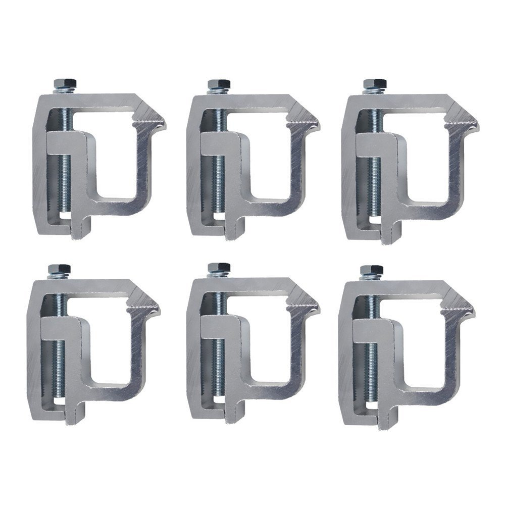 iFJF Powder-Coated Mounting Clamps for Truck Caps and Camper Shell fit CHEVY Silverado Sierra 1500 2500 3500, DODGE Dakota Ram 1500 2500 3500, FORD F150 Titan, TOYOTA Tundra Set of 6 (Black) Y-autopart