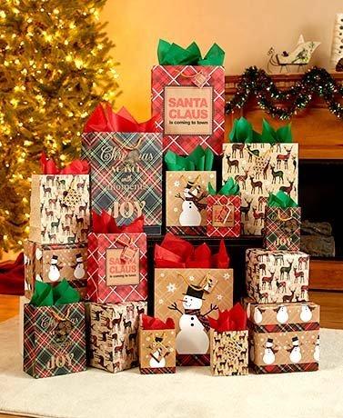 28-Pc. Holiday Gift Bag Set