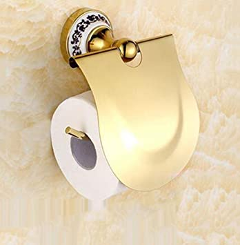 Blaues Und Weißes Porzellan Papierhandtuchhalter Vergoldeter Antiker  Toilettenpapierhalter, Edelstahl , Gold