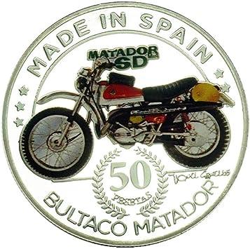 España,Torero,Moneda Conmemorativa,Colección,Plateado,Motocicleta ...
