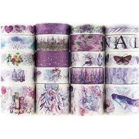 20 rollen Washi Tape-set, decoratieve plakband, collectie voor knutselaars, verfraait dagboeken, planners, kaarten en…