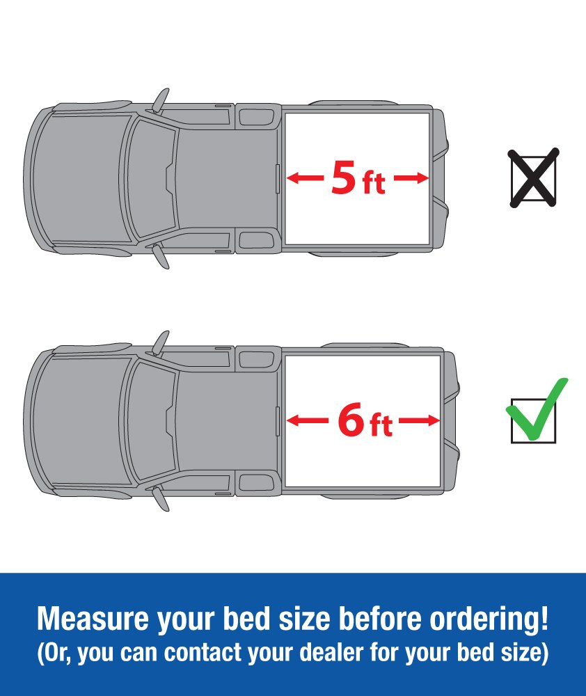 Fleetside 6 Bed Tyger Auto T3 Tri-Fold Truck Bed Tonneau Cover TG-BC3T1531 works with 2016-2018 Toyota Tacoma For models with or without the Deckrail System