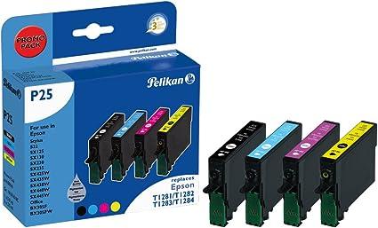 Pelikan 4109941 - Cartucho de tinta Epson Stylus S22 - T1281 - PACK (COLOR + NEGRO): Amazon.es: Oficina y papelería
