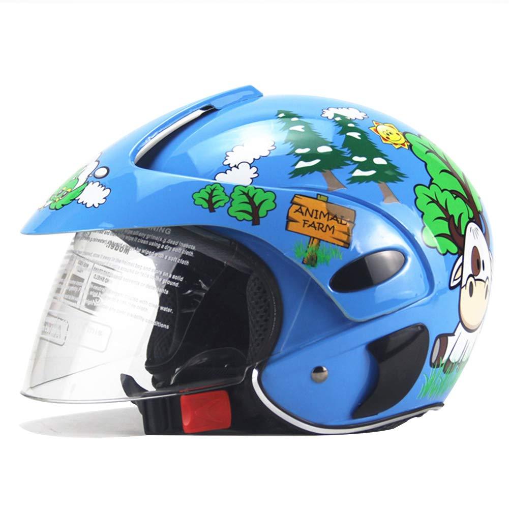DRAGSP Casco para Niños, Medio Casco para Motocicleta, Casco De ...