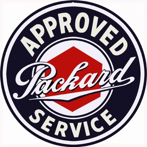 Reproduction Oil Motor - Approved Packard Service Station Gas and Motor Oil Reproduction Sign