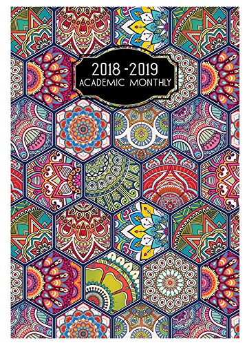 Payne Publishers 2018-2019 Academic Monthly Deco SMB-6V (Hexagons)