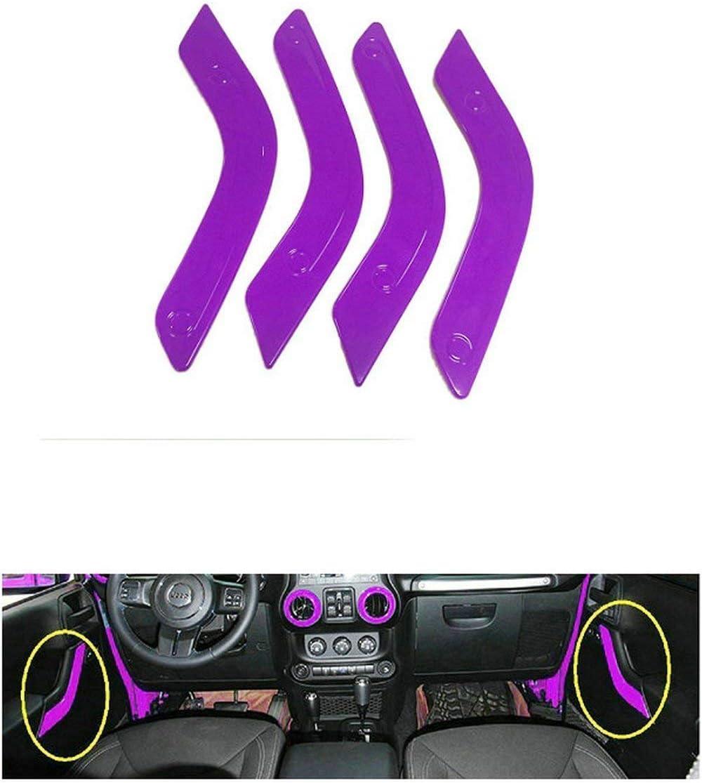 Door Handle Cover Inner For Jeep Wrangler JK JKU 2011-2018 2 Door /&4 Door Opall 18PCS Full Set Interior Decoration Trim Kit Steering Wheel /& Center Console Air Outlet Trim Green
