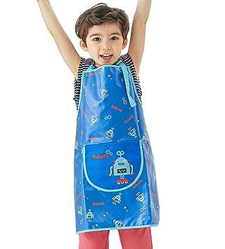 Kinder Bastelsch/ürze Wasserdicht Malkittel Bastelkittel Malsch/ürze Kittel Malerei Kleidung Fuer M/ädchen Junge von 2-10 Jahre Cartoon Tiere
