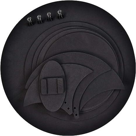 Sordina de batería silenciosa, – Juego de 10pcs Silencioso muet sordina de tambor de batería (espuma de goma: Amazon.es: Instrumentos musicales