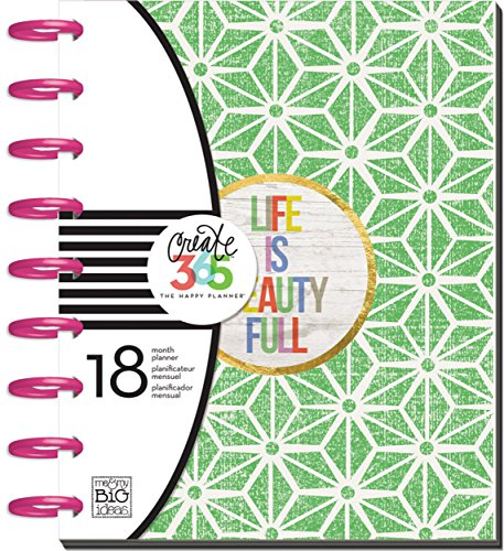 Me & my BIG ideas Create 365 The Happy Planner, Life Is Beauty Full, 18 Month Planner, July 2015 - December 2016