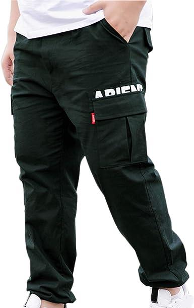 Mens Casual Cargo Pants Multi-pocket Harem Trousers Streetwear Hip Hop Leisure L