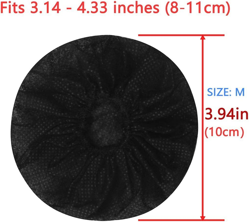 Stretchable Headphone Covers//Disposable Sanitary Earcup Earpad Covers Fits Medium//Large-Sized Headset 200 pcs 100 Pairs Black