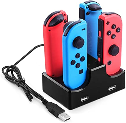 Moda Compatible con Nintendo Switch Joy con Cargador, Joy con Base ...