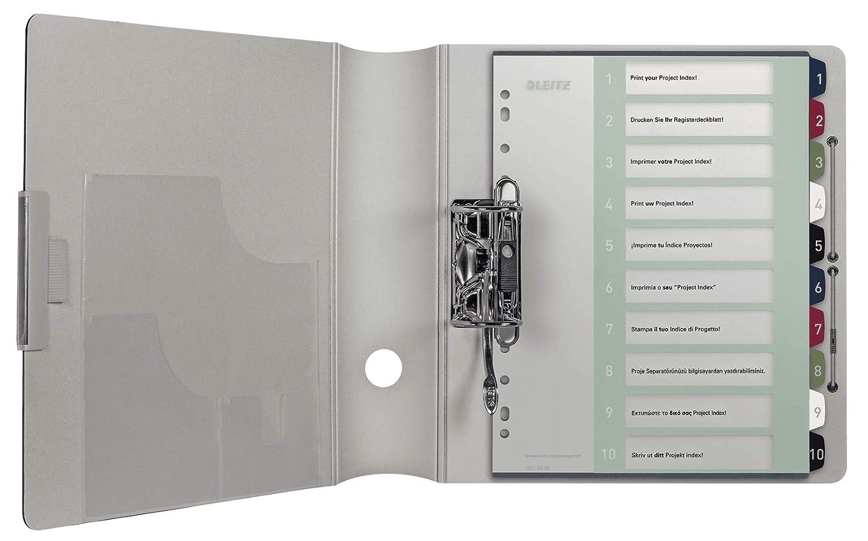 LEITZ Rubrica Style PPL numerica 1-5 con indice stampabile a PC 12350000 F.to A4 MAXI