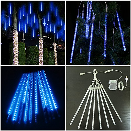 Blue Led Icicle Xmas Lights in Florida - 3