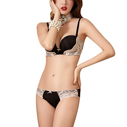 f50bf0ca64 Women Sexy Bra Push Up Seamless Adjustable Lingerie Fashion Panty Underwear  Set (32 70AB
