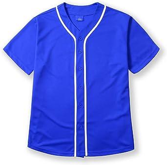 Men's Premium Baseball Button Down Jersey Short Sleeve Hipster Hip Hop Urban T Shirts