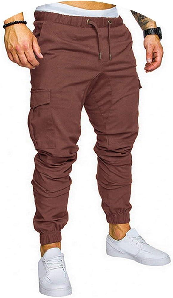 Lu Studio - Pantalones de chándal para Hombre - Marrón - Medium ...