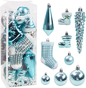 DomeStar Christmas Ball Ornaments, 21PCS Christmas Tree OrnamentsChristmas Baubles Tree Balls Christmas Decorations for Xmas Tree