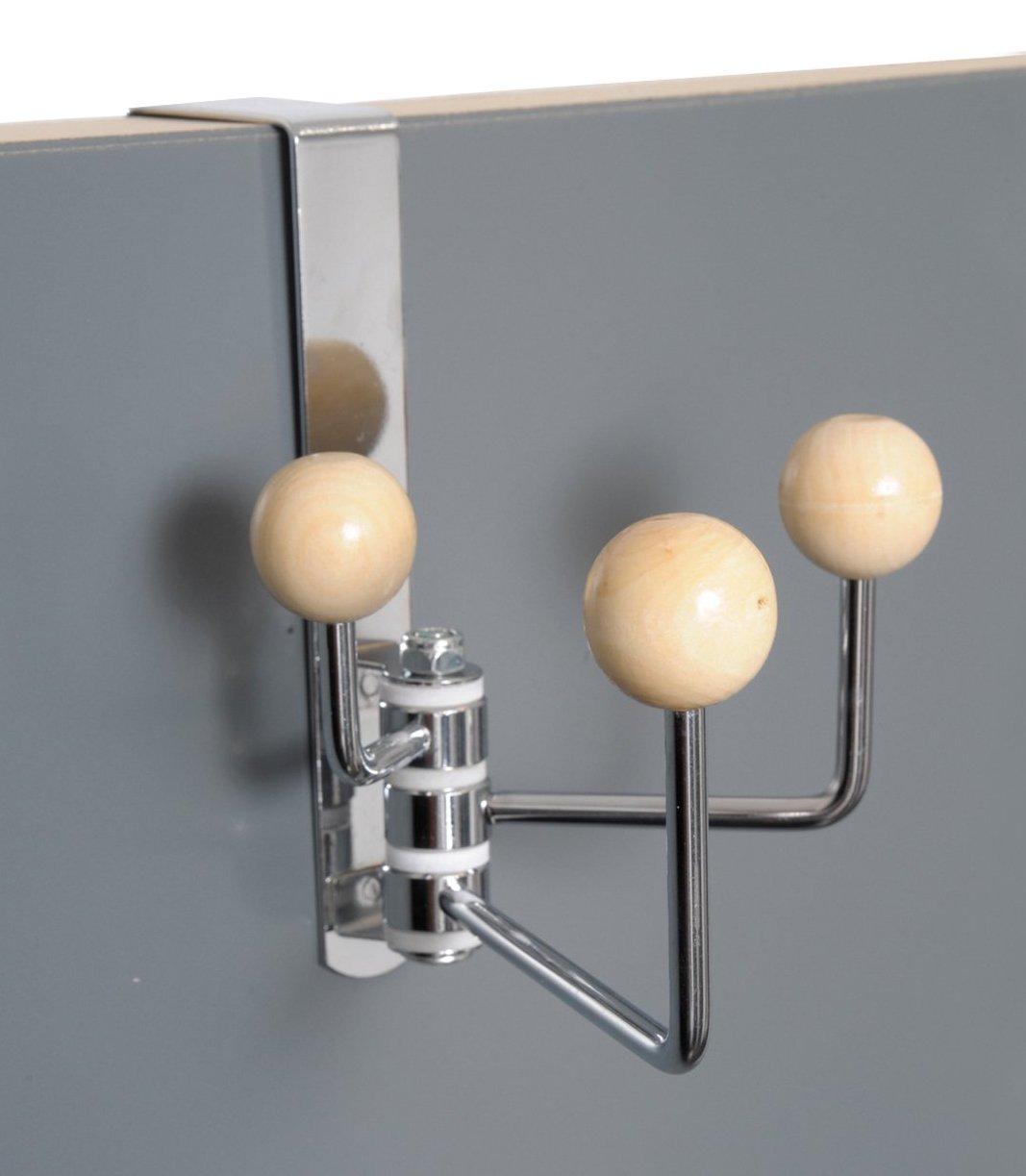 EVIDECO Over-The-Door Metal Swivel Hook Color: Brown