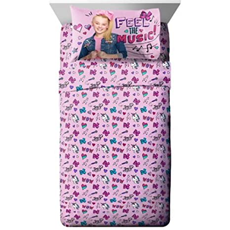 Nickelodeon JoJo Siwa Girls Twin Bedding Sheets Set