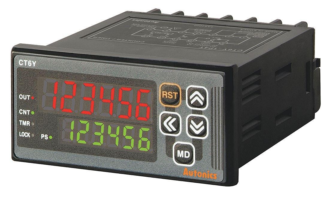 Autonics ct6y-i2 Zähler und Timer, BxTxH): 72 x H36 mm, 6-stelliger, LED-Anzeige, nur, 24–48 VDC/24 VAC