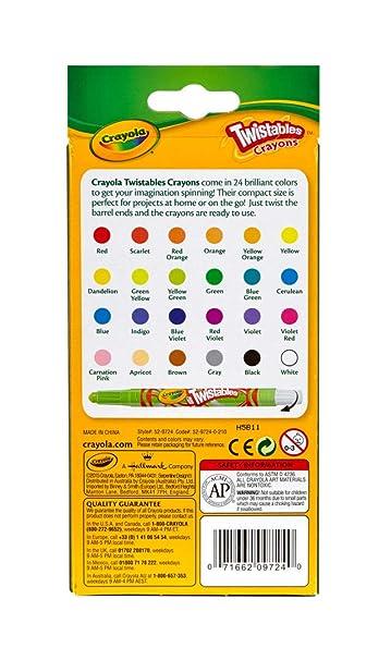 Crayola 24 Ct Mini Twistables Crayons: Crayola: Amazon.com.mx ...