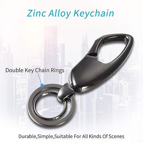 Amazon.com: Llavero de aleación de zinc con doble llavero ...
