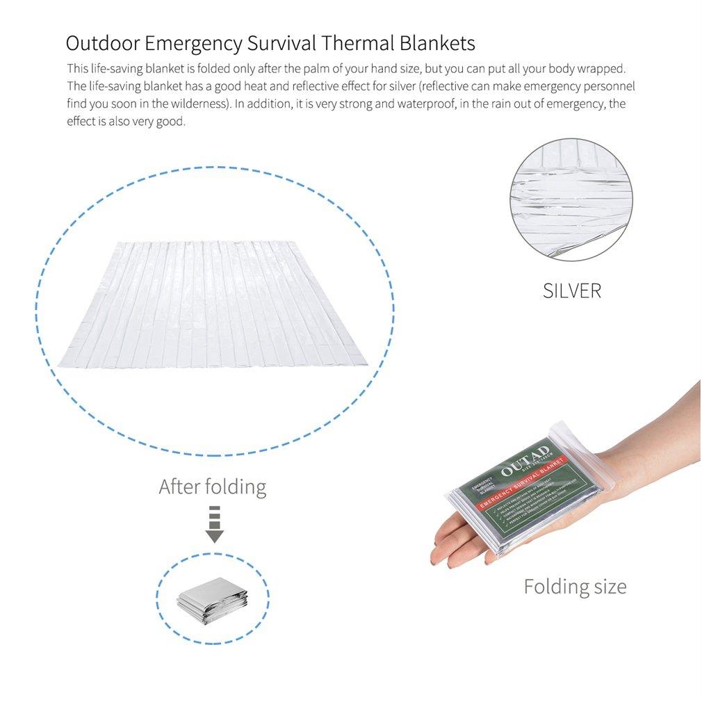 U-KISS Waterproof Emergency Blanket for Outdoor Survival Thermal First Aid