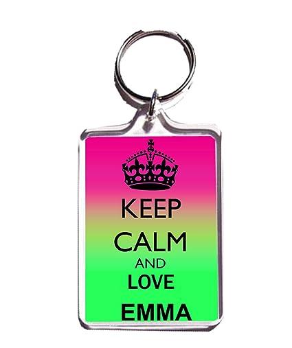 Amazon.com   Keep Calm and Love Emma Keychain Keyring   Office Products 47f0303e6979
