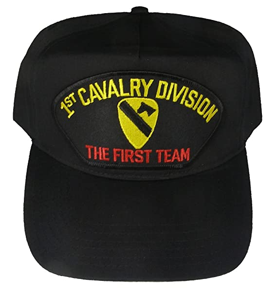 e1961ad351406 Image Unavailable. Image not available for. Color  1st CAVALRY DIVISION  VETERAN HAT with THE FIRST TEAM ...