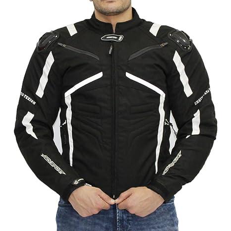 AGV SPORT Chaqueta textil corta Lucca Jacket para hombre Aprobado CE (M, Blanco/