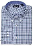 Nautica Men's Classic Fit Button Down Collar Dress Shirt, Sea Tattersall, 15.5 34/35