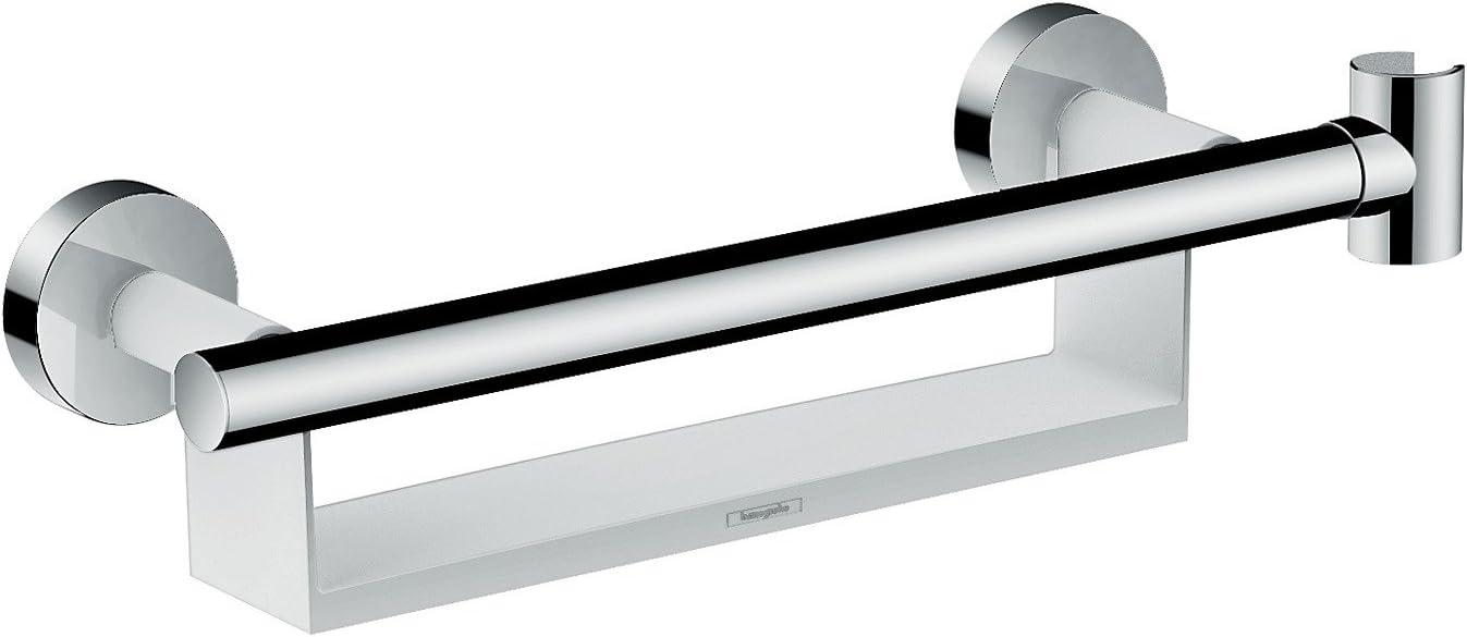 Hansgrohe 26328400 Unica Comfort Asidero con repisa y soporte de ...