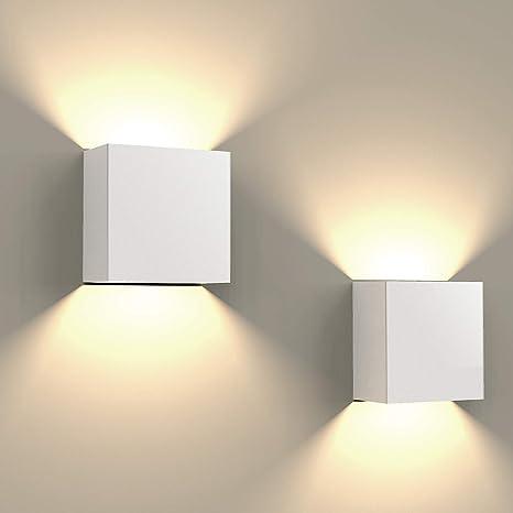 size 40 f80a5 b2978 2PCS Modern LED Wall Light,FUSSEN Decorative Up Down Wall Lights Aluminum  Indoor Wall Lamp for Bedroom Corridor Office Cafes Restaurant 3000K Warm ...