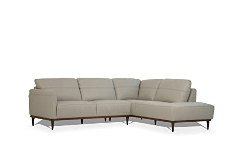 Amazon.com: ACME Furniture 54970 Tampa Sectional Sofa, Pearl ...