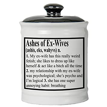 Tumbleweed Ashes Of Ex Wives Jar Funny Money Jar With Lid Breakup Gift Ideas Amazon In Home Kitchen