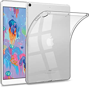 HBorna iPad 9.7 Clear Case for iPad 2018/2017 Model, 6th/5th Generation iPad case, Ultra Slim Transparent Soft TPU Rubber Silicone Back Cover Skin for Apple iPad 9.7 Inch (iPad 5, iPad 6) - Clear