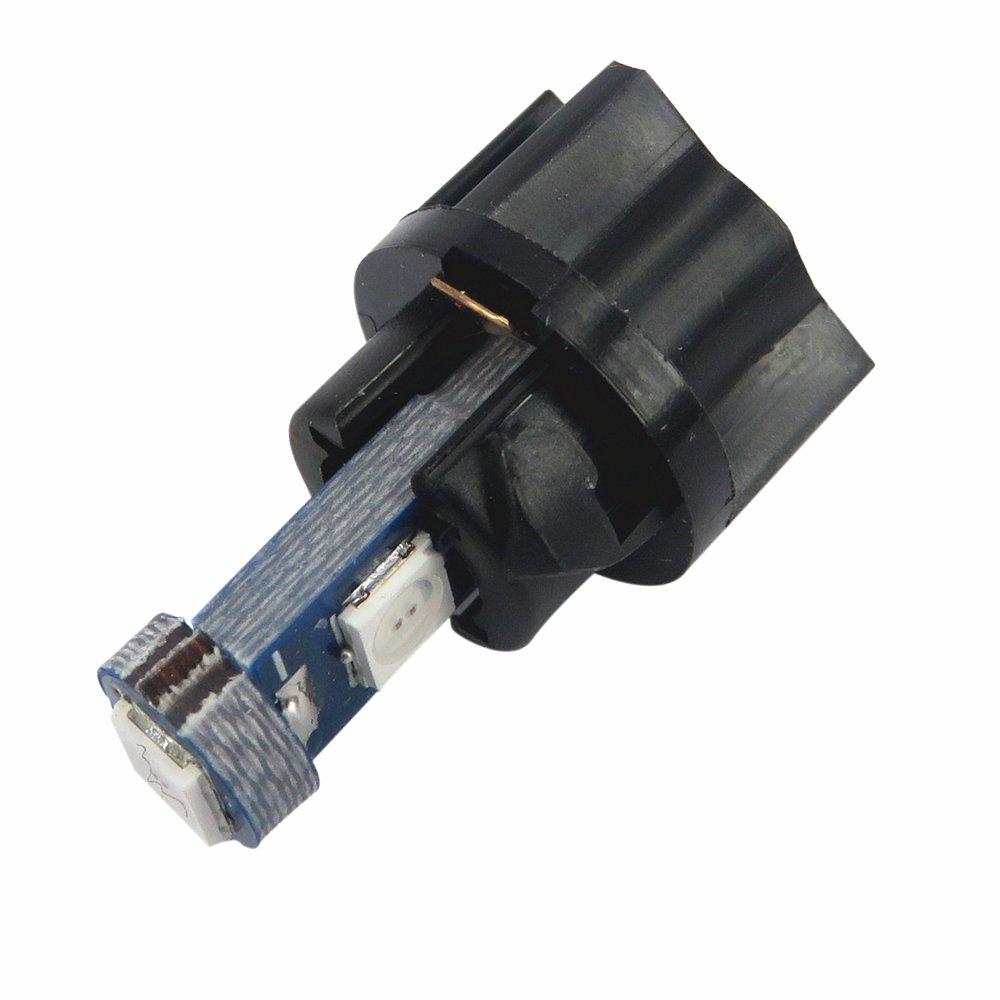 WLJH 6 x T5 LED Bombilla 3030SMD 1,5 W 74 2721 instrumento Panel de repuesto de cl/úster de Twist Lock soket blanco, verde, azul, amarillo, hielo azul, rojo, rosa