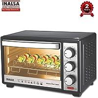 Inalsa MasterChef 19 BKR OTG-1300W, Motorised Rotisserie & Temperature Selection|6 Stage Heat Selection|Powder Coated Finish, (Black)