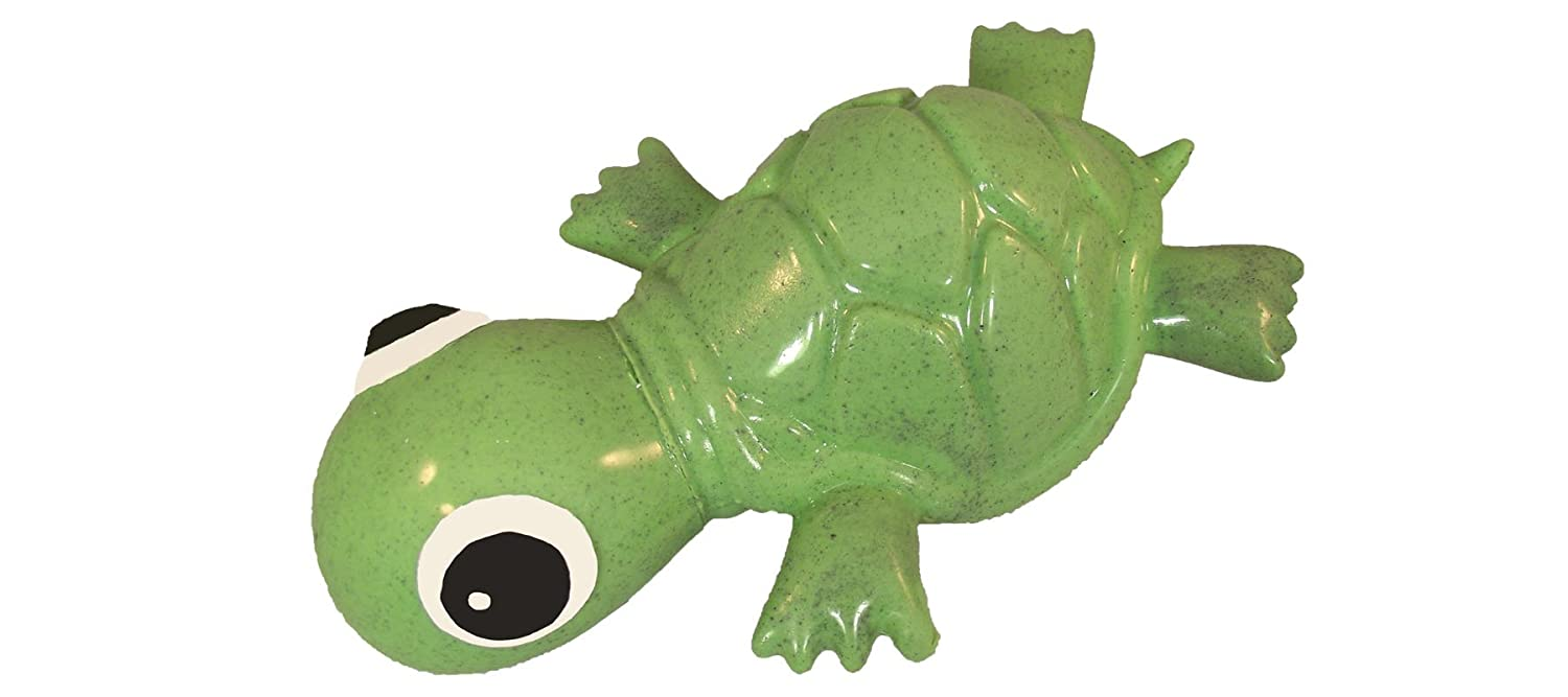 Ciclo Dog 3-play Turtle Dog Toy Ecolast post Consumer Recycled material, verde