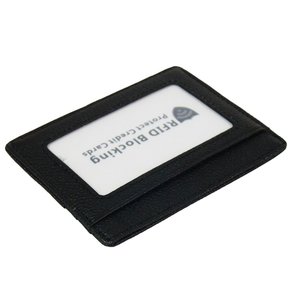RFID Blocking Slim Wallet Super Thin Minimalist Card Holder (Black with 6 slots) BaBaMa Trade Co. Ltd